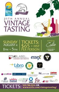 25th Annual Vintage Tasting @ Colio Winery | Essex | Ontario | Canada