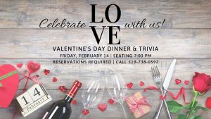 Valentine's Day Dinner & Trivia @ Paglione Estate Winery | Essex | Ontario | Canada