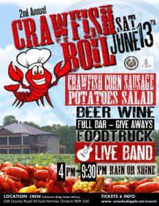 2nd Annual Crawfish Boil @ CREW - Colchester Ridge Estate WInery   Essex   Ontario   Canada