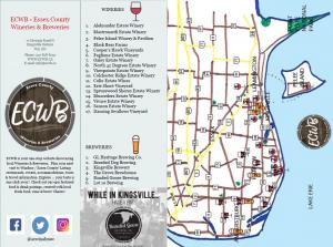 Printable Map Of Windsor Ontario Canada Brewery ECWB   Windsor Essex County Wineries & Breweries Map
