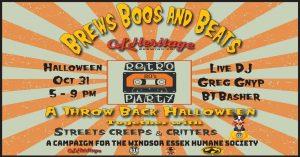 Brews, Boos & Beats Halloween Fun-draiser for Humane Society @ GL Heritage Brewing Company | Amherstburg | Ontario | Canada